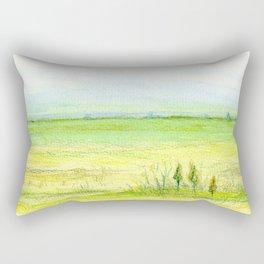 Green meadow Rectangular Pillow