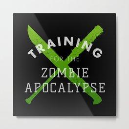 Training: Zombie Apocalypse Metal Print