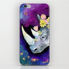 Flowers for Rhino iPhone Skin