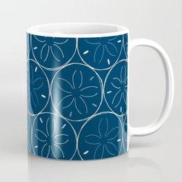 Sanddollar Pattern in Blue Coffee Mug