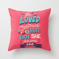 paper towns Throw Pillows featuring Paper Towns: Mysteries by Risa Rodil