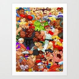 Street Fighter Alpha - Fight! Art Print