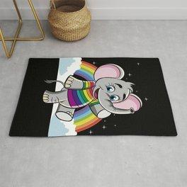 Rainbow Elephant - Cute Elephantidae Rug