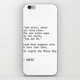 Hafez quote iPhone Skin