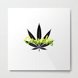 Cannabis   Marijuana Weed Pot Head Gifts Metal Print