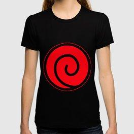 Naruto Uzumaki Clan Symbol Minato Yondaime Anime Men's Black Naruto T-Shirts T-shirt