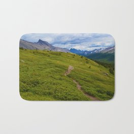 Views Along the Wilcox Pass Trail in Jasper National Park, Canada Bath Mat