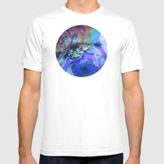 can't look away White MEDIUM Mens Fitted Tee