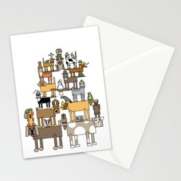 Acrobatic Pets Stationery Cards