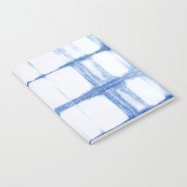 Shibori Blue - Rectangles Notebook