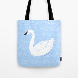 Peaceful Swan Illustration Tote Bag