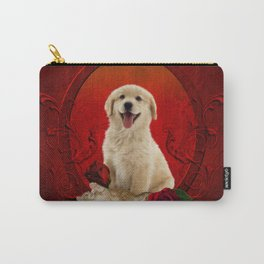 Cute little kitten with dog Carry-All Pouch