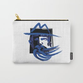 Blue beard. Man in a hat Carry-All Pouch