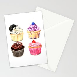 Cupcake selection Stationery Cards