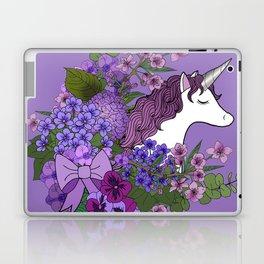 Unicorn in a Purple Garden Laptop & iPad Skin