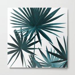 Fan Palm Leaves Jungle #1 #tropical #decor #art #society6 Metal Print