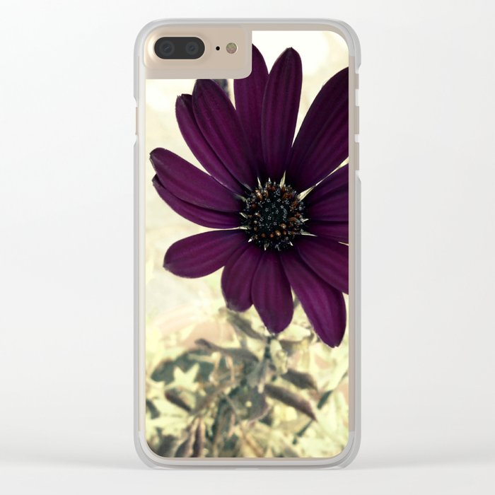Daisy Autumnal Clear iPhone Case