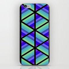 Colorful Stripe Triangles iPhone & iPod Skin