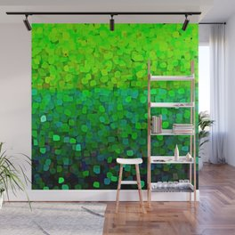 Glitter Sparkles Green Wall Mural