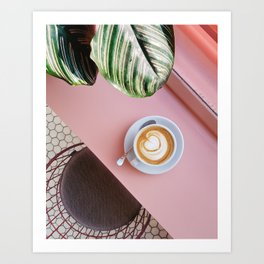 Pink Coffee Art Print