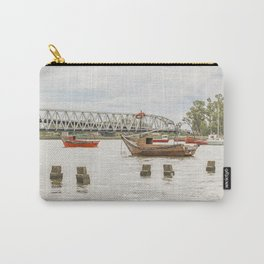 Boats at Santa Lucia River in Montevideo Uruguay Carry-All Pouch