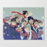 haikyuu Canvas Prints featuring Haikyuu!! by x3uu