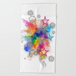 Color blobs by Nico Bielow Beach Towel