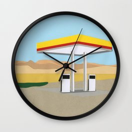 Death Valley Gas Station Wall Clock