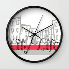 City Life {The Boring Afternoon Design Series} Wall Clock