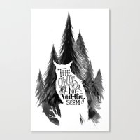 twin peaks Canvas Prints featuring Twin Peaks by T. Raweewon
