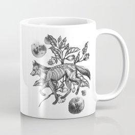 Deadly Nightshade - Watercolor Wolf Coffee Mug