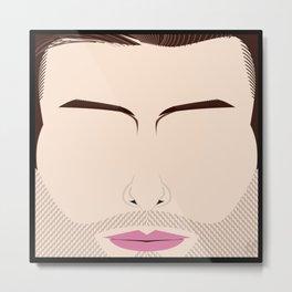 Adam Levine – Square:icature™ Metal Print