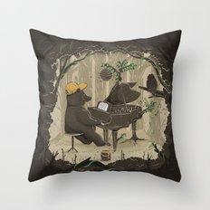 Forestal Sounds Throw Pillow