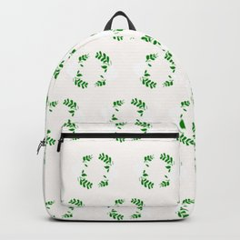 Holiday Wreath Pattern Backpack