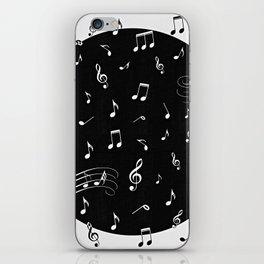 Music White and Black iPhone Skin