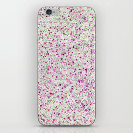Pink and Green Floral iPhone Skin