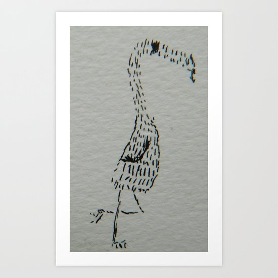 Jeffery the Jerk Art Print