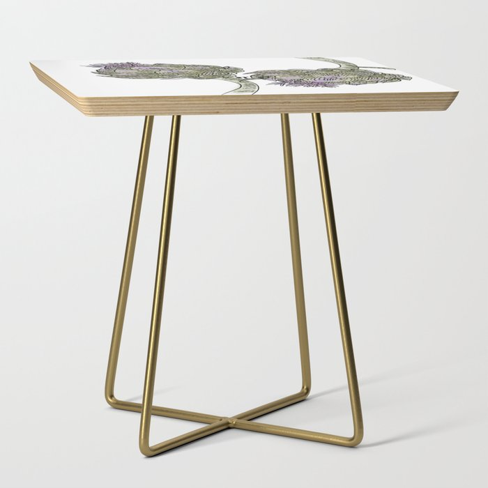 Wild Artichokes Side Table