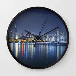 Chicago Blues Wall Clock