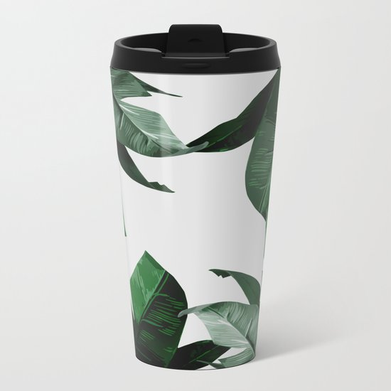 Banana Palm Leaves Metal Travel Mug