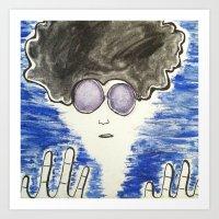 hippie Art Prints featuring Hippie by ArtAngel