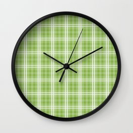 Spring 2017 Designer Colors Greenery Tartan Plaid Wall Clock