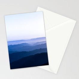 Layers Of Parallax Purple Mountains Lavender Violet ombre Gradient Landscape Minimalist Colorful Pho Stationery Cards