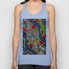 Aboriginal Art Authentic - Walking the Land Unisex Tank Top