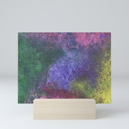 Abstract painting of sponged colorful spots Mini Art Print