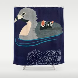 Pied-Billed Grebe says... Shower Curtain