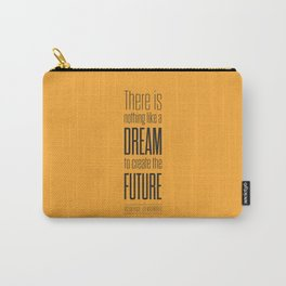 Lab No. 4 - Dream To Create Future Victor Hugo Movie Typography Quotes Poster Carry-All Pouch