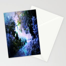 fantasy garden Periwinkle Stationery Cards