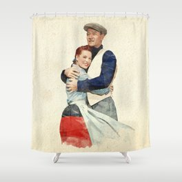 The Quiet Man - Watercolor Shower Curtain