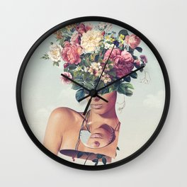 Flower-ism Wall Clock